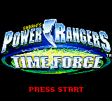 Power Rangers - Time Force (USA) Title Screen