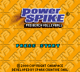 Power Spike - Pro Beach Volleyball (USA) Title Screen
