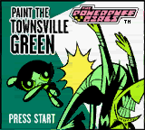 Powerpuff Girls, The - Paint the Townsville Green (USA) Title Screen