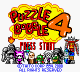 Puzzle Bobble 4 (Japan) Title Screen