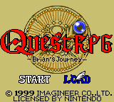 Quest RPG - Brian's Journey (USA) Title Screen