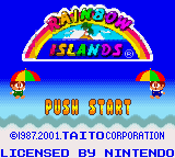 Rainbow Islands (Europe) (En,Fr,De,Es,It) Title Screen