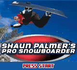 Shaun Palmer's Pro Snowboarder (USA) Title Screen