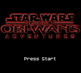 Star Wars Episode I - Obi-Wan's Adventures (USA) Title Screen