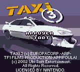 Taxi 3 (France) Title Screen