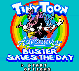 Tiny Toon Adventures - Buster Saves the Day (USA) Title Screen