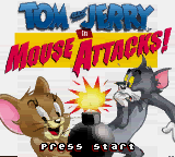 Tom and Jerry in Mouse Attacks! (USA) Title Screen