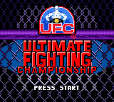 Ultimate Fighting Championship (USA) Title Screen