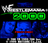 WWF WrestleMania 2000 (USA, Europe) Title Screen