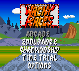 Wacky Races (Europe) (En,Fr,De,Es,It,Nl) Title Screen