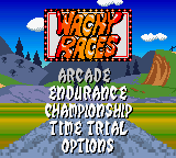 Wacky Races (USA) (En,Fr,Es) Title Screen