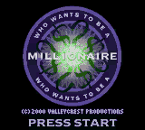 Who Wants to Be a Millionaire - 2nd Edition (USA) Title Screen