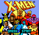 X-Men - Mutant Academy (Japan) Title Screen