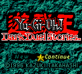 Yu-Gi-Oh! - Dark Duel Stories (USA) Title Screen