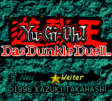 Yu-Gi-Oh! - Das Dunkle Duell (Germany) Title Screen