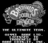 Battletoads Double Dragon - The Ultimate Team (Europe) Title Screen