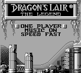 Dragon's Lair - The Legend (USA) Title Screen