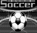 Elite Soccer (USA) Title Screen