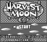 Harvest Moon GB (USA) Title Screen
