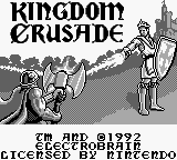 Kingdom Crusade (USA) Title Screen