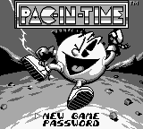 Pac-In-Time (USA) Title Screen