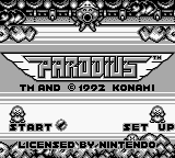 Parodius (Europe) Title Screen