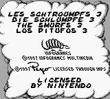 Smurfs Nightmare, The (Europe) (En,Fr,De,Es) Title Screen