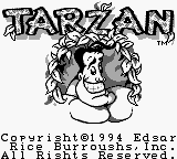 Tarzan (USA, Europe) Title Screen