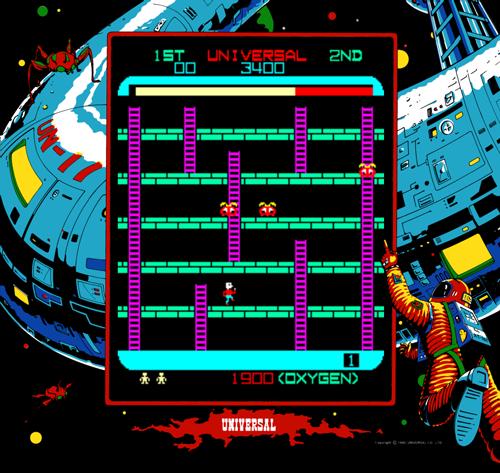 Collectibles Space Panic Arcade Marquee Arcade, Jukeboxes & Pinball