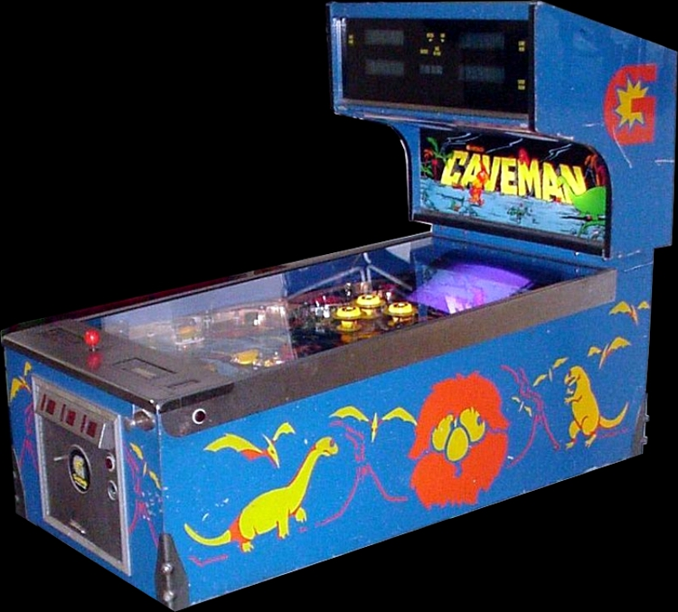 Caveman (Pinball/Video Combo, set 1) Cabinet
