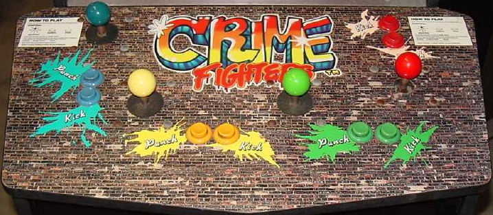 Crime Fighters (World 2 players) Cabinet