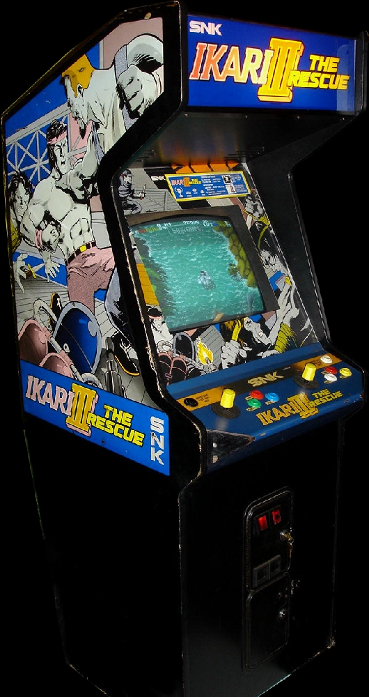 Ikari III - The Rescue (World, 8-Way Joystick) Cabinet