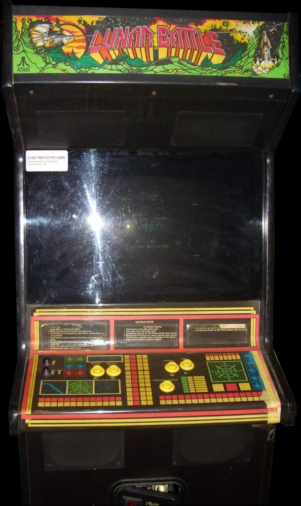 Lunar Battle (prototype, later) Cabinet