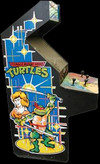 Teenage Mutant Hero Turtles (UK 4 Players, version F) Cabinet