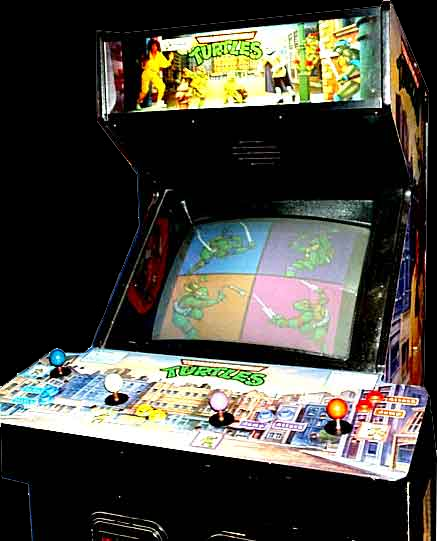 Teenage Mutant Ninja Turtles (US 4 Players, version R) Cabinet