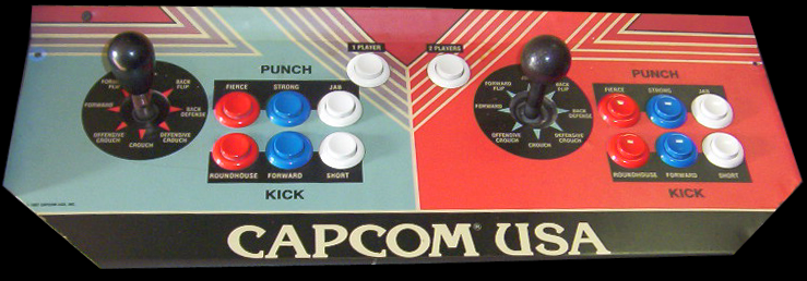 Street Fighter Controller button layout