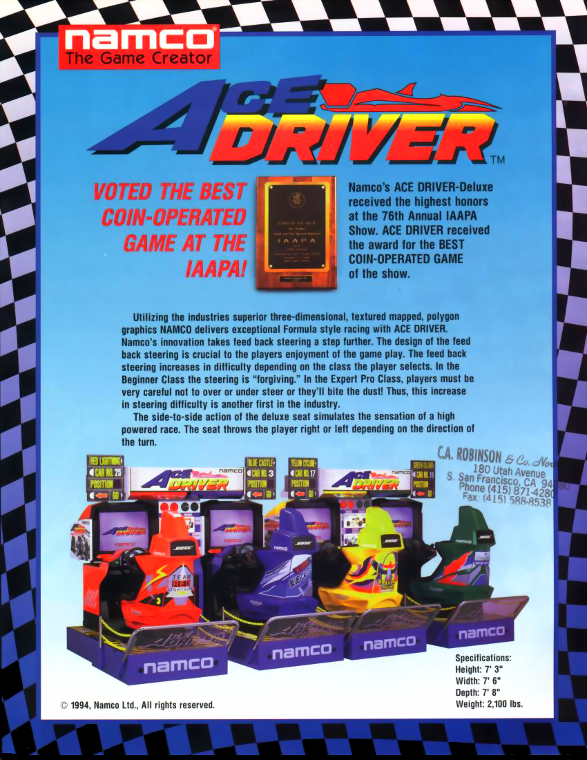 Ace Driver: Racing Evolution (Rev. AD2) flyer