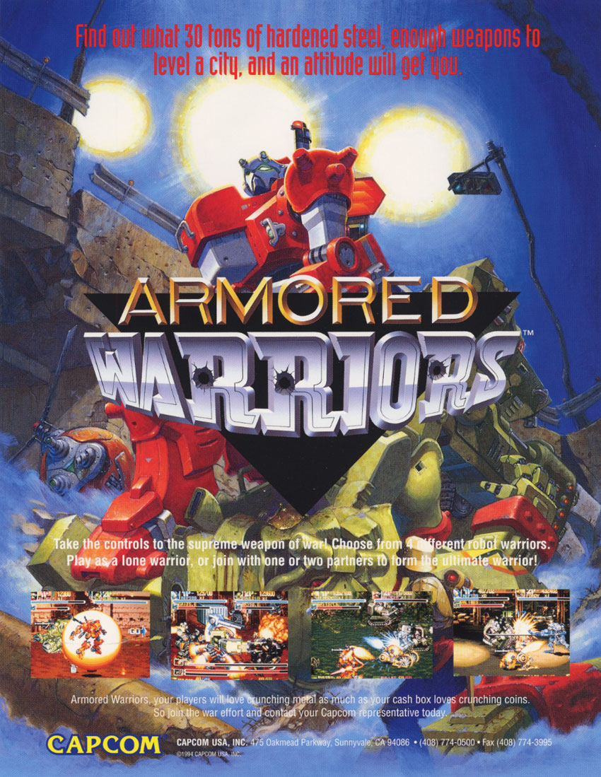 Armored Warriors (Euro 941024) flyer