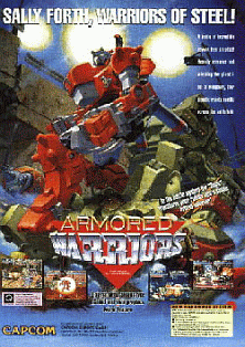 Armored Warriors (Asia 941024) flyer