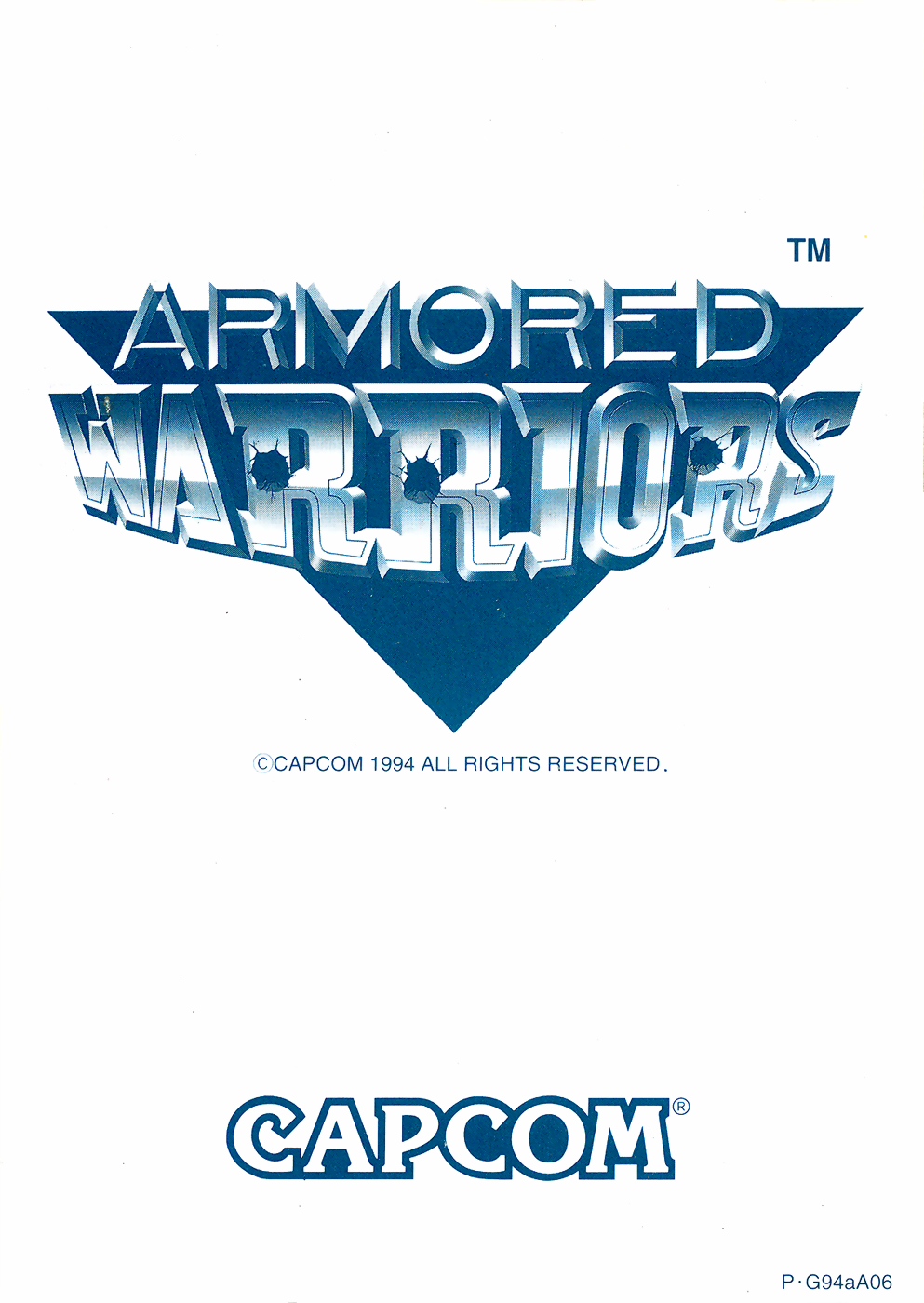 Armored Warriors (USA 941024) flyer