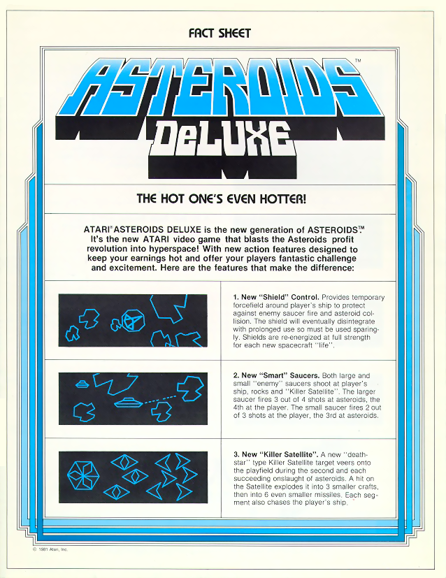Asteroids Deluxe (rev 1) flyer