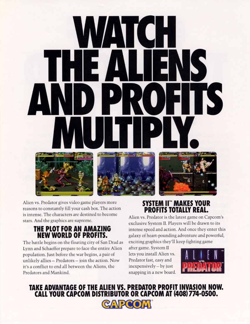 Alien vs. Predator (USA 940520) flyer