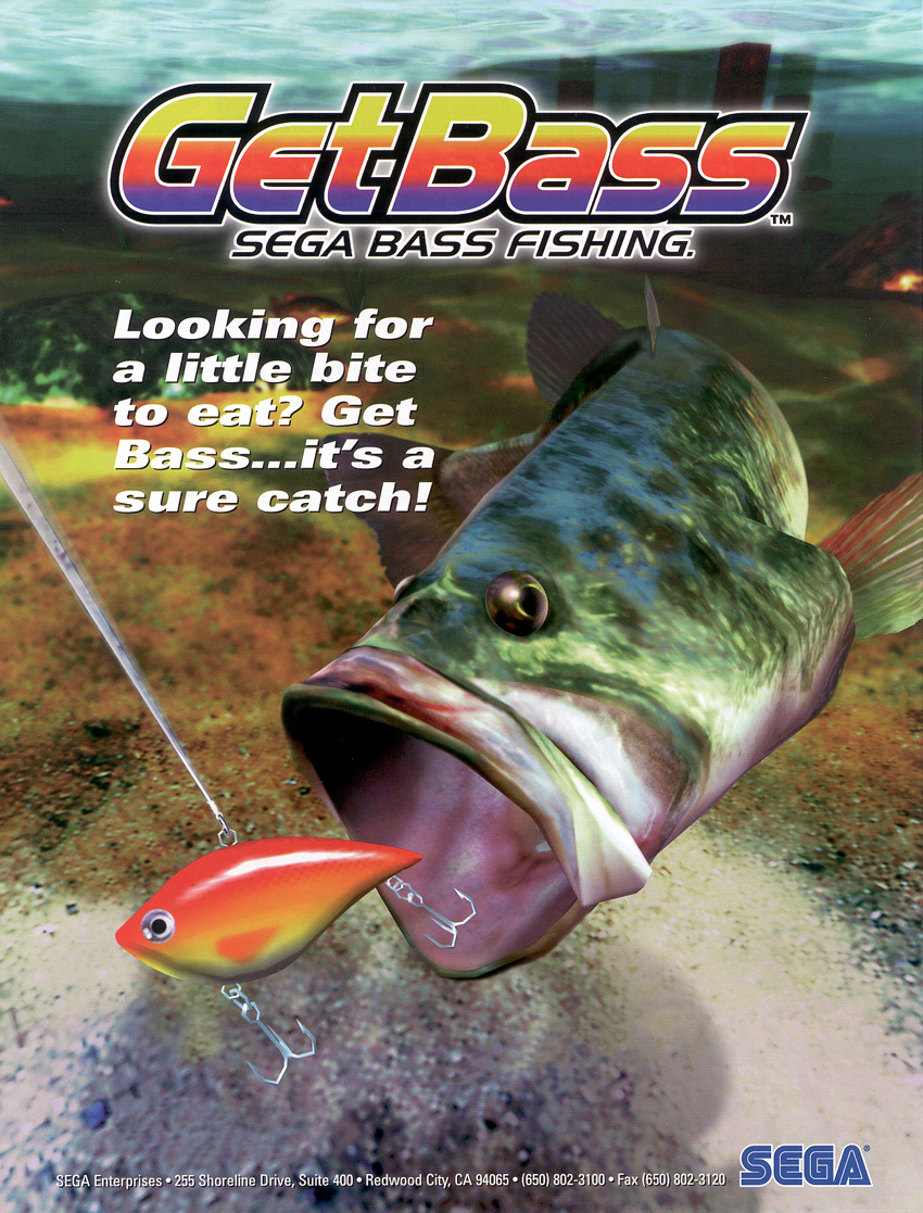 sega bass fishing arcade machine