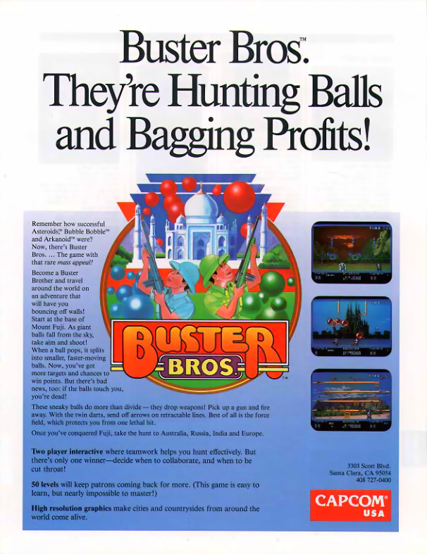 Buster Bros. (USA) flyer