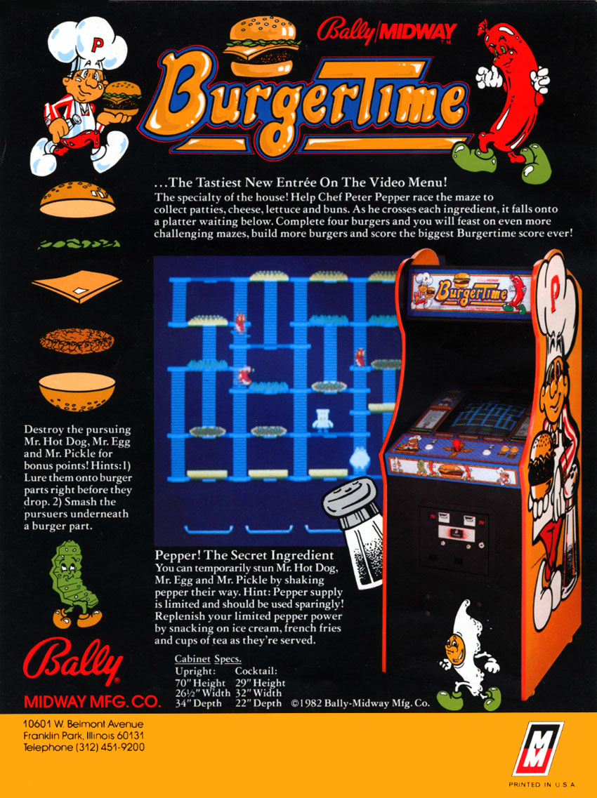 Burger Time (Midway) flyer