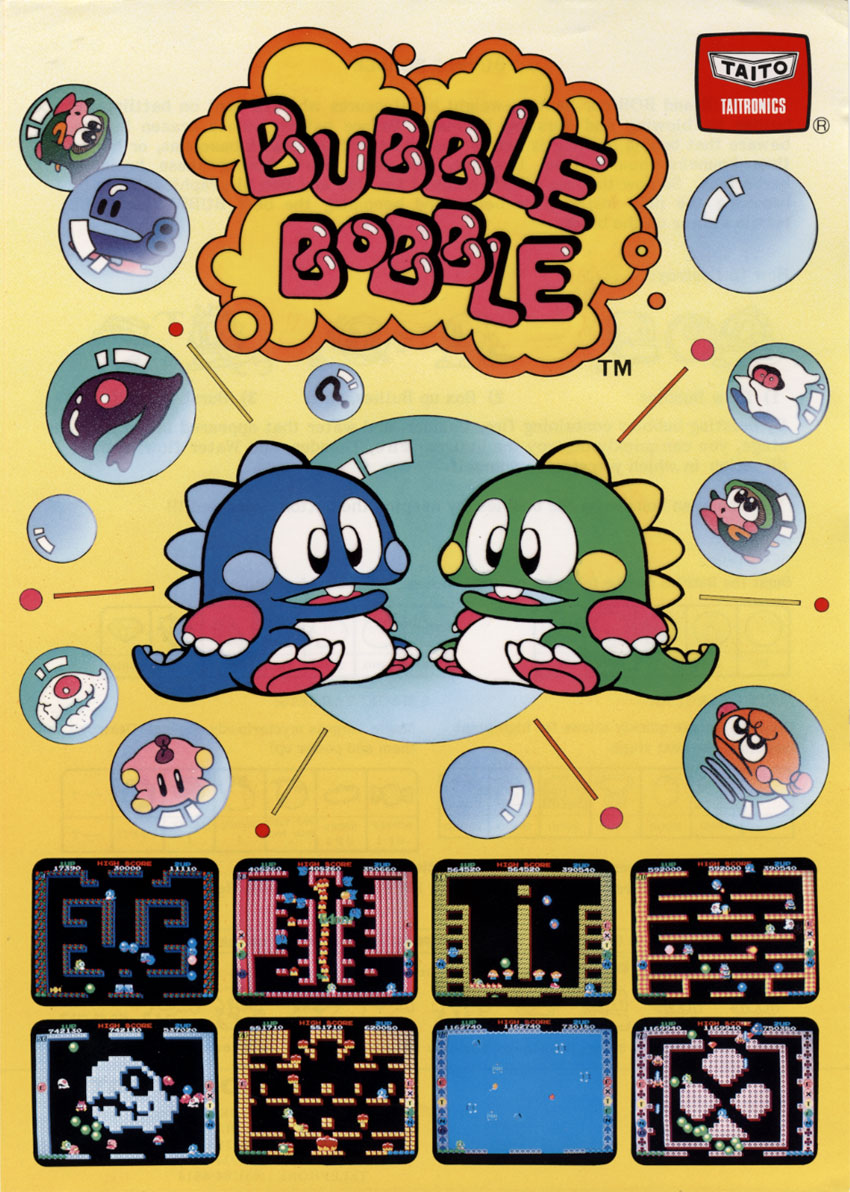 Bubble Bobble (Japan, Ver 0.1) flyer