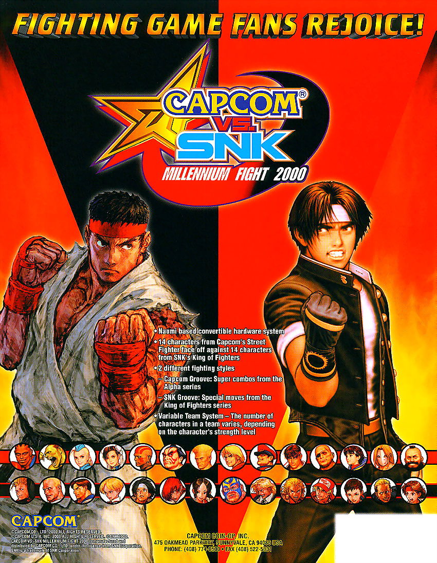 Capcom Vs. SNK Millennium Fight 2000 (Rev C) flyer