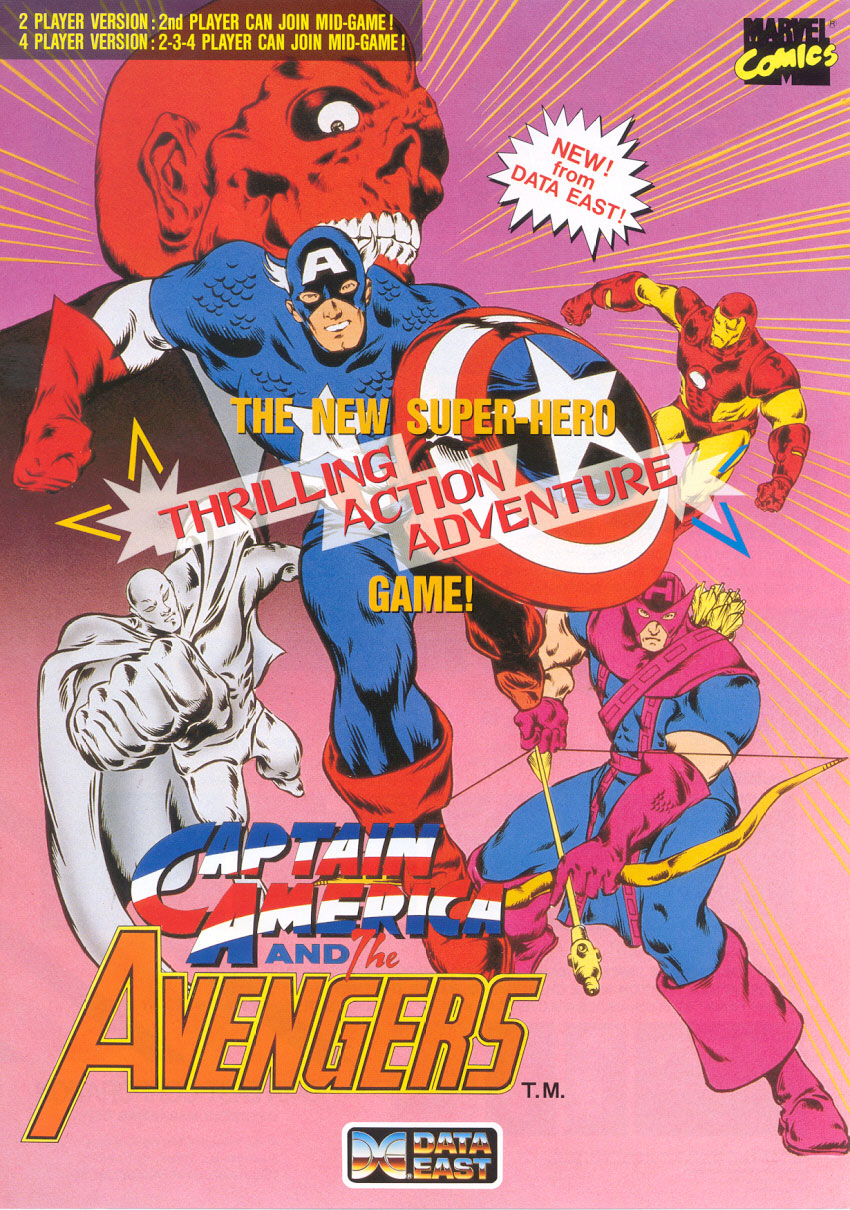 Captain America and The Avengers (UK Rev 1.4) flyer