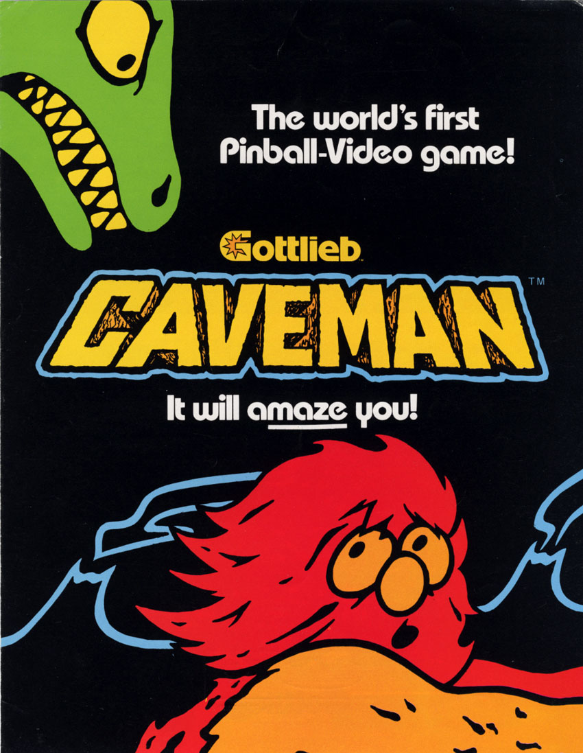 Caveman (Pinball/Video Combo, set 1) flyer