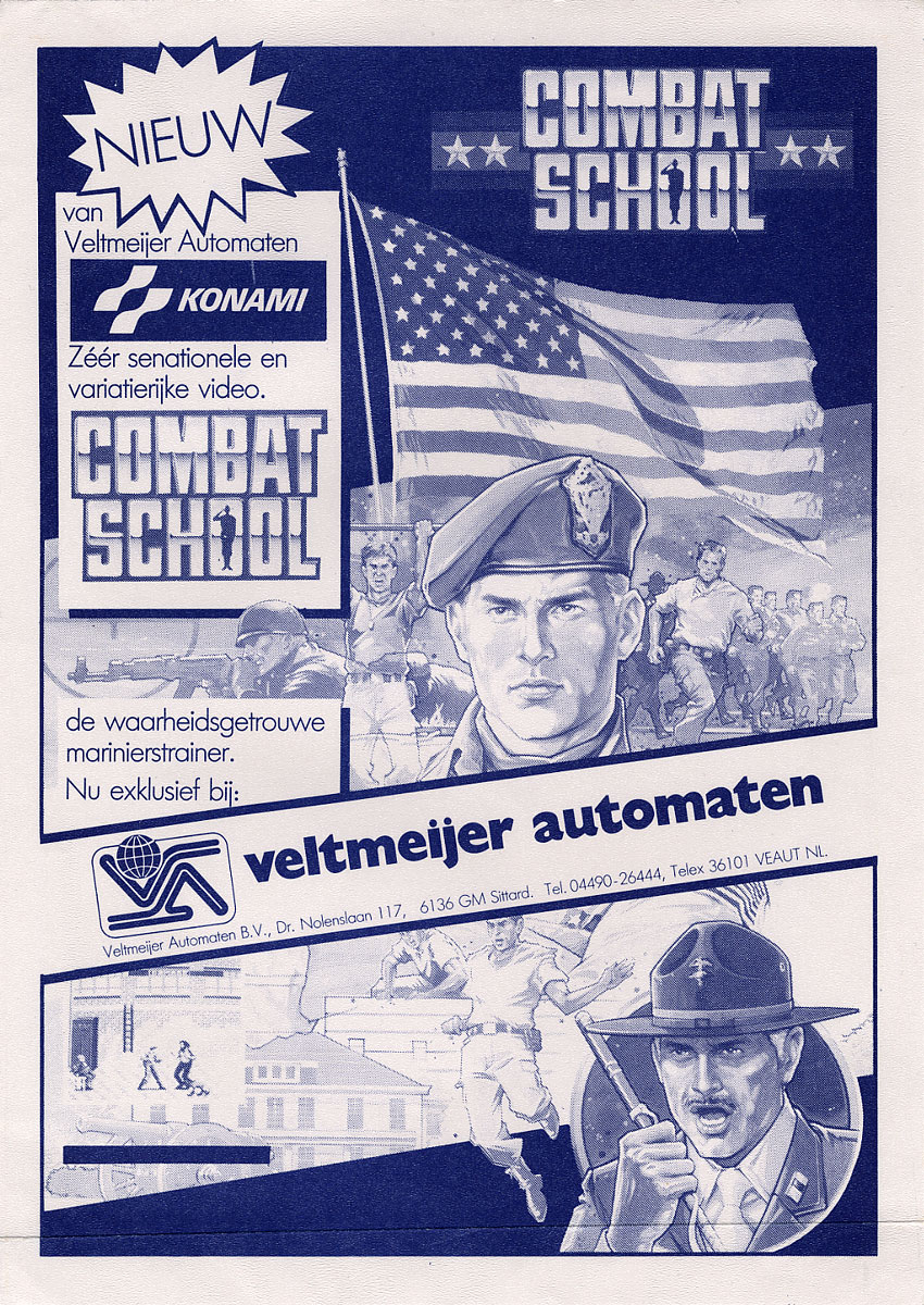 Combat School (trackball) flyer